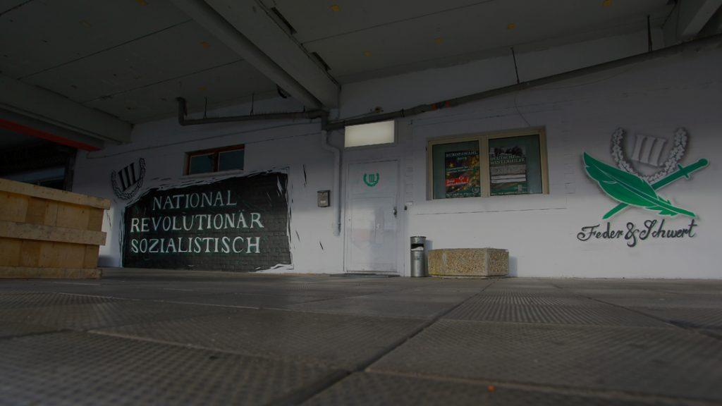Die extrem rechte Immobilie in der Stielerstraße in Erfurt