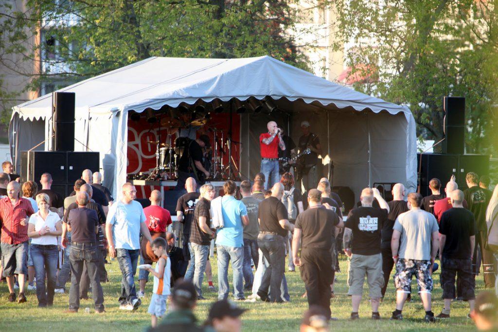 Auftritt der extrem rechten Band Oidoxie beim Eichsfeldtag 2011