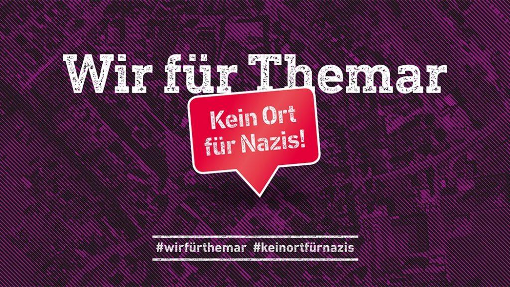 Banner: Wir für Themar - Kein Ort für nazis