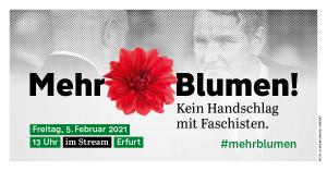 """Banner der Kampagne """"Mehr Blumen"""""""
